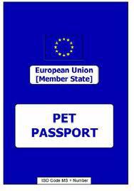 Pet passport cost 2016